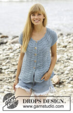 Shore Line Cardigan by DROPS Design