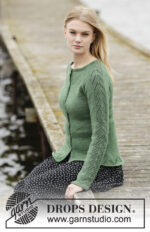 Green Forest Cardigan by DROPS Design