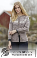 English Afternoon Cardigan by DROPS Design