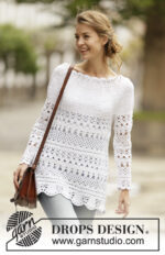 Lacey Days Jumper by DROPS Design