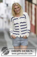 Nautical Waves Cardigan by DROPS Design