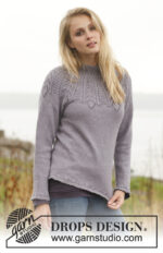 Lady Feather Sweater by DROPS Design