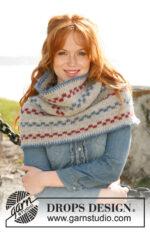 Pippi shawl by DROPS Design