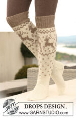 Oh Deer Socks! by DROPS Design