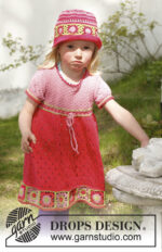 Sweet berry dress by DROPS Design