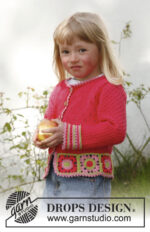 Sweet berry cardigan by DROPS Design