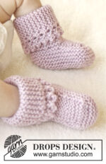 Lullaby Booties by DROPS Design
