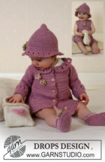 Little Miss Berry Cardigan by DROPS Design