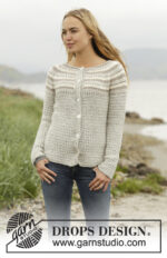 Misty Mountain Cardigan by DROPS Design